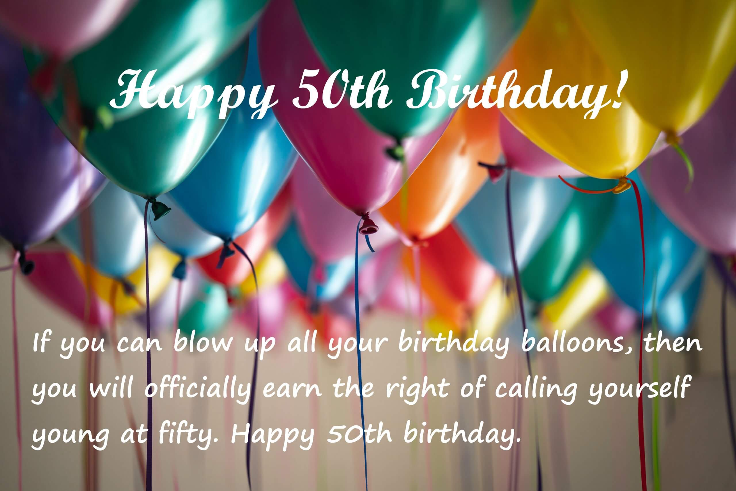 Funny 50th Birthday Messages