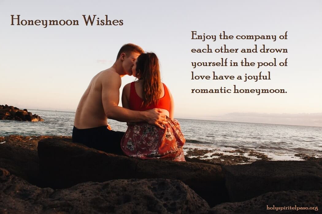 Honeymoon Wishes and Messages for Newly Married Couple