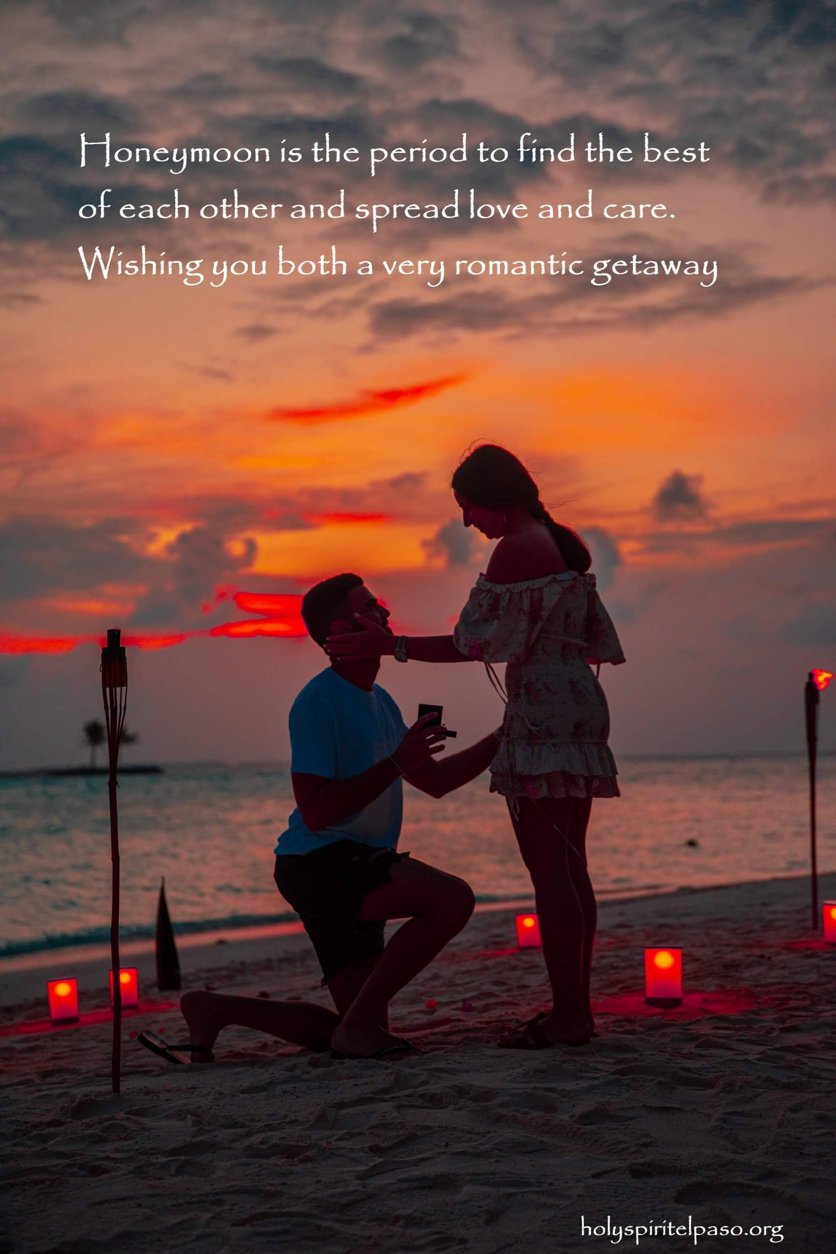 Honeymoon Wishes for Newly Weds