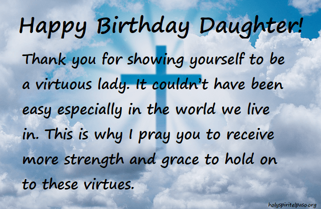 Birthday Christian Wishes For Daughter