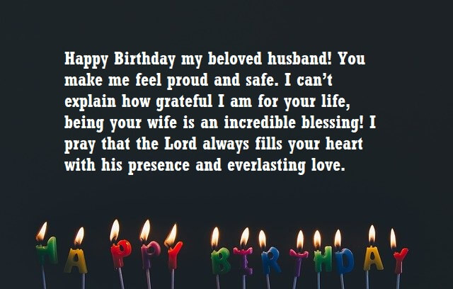 Religious Birthday Wishes For Husband