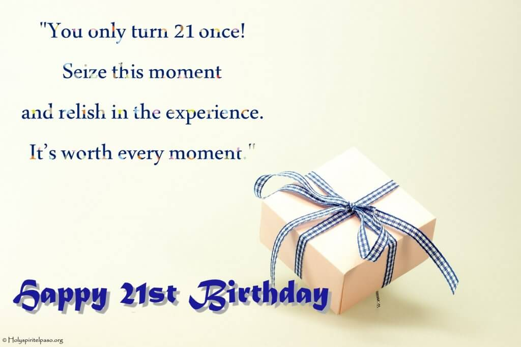 21st Birthday Quotes With Gift Image