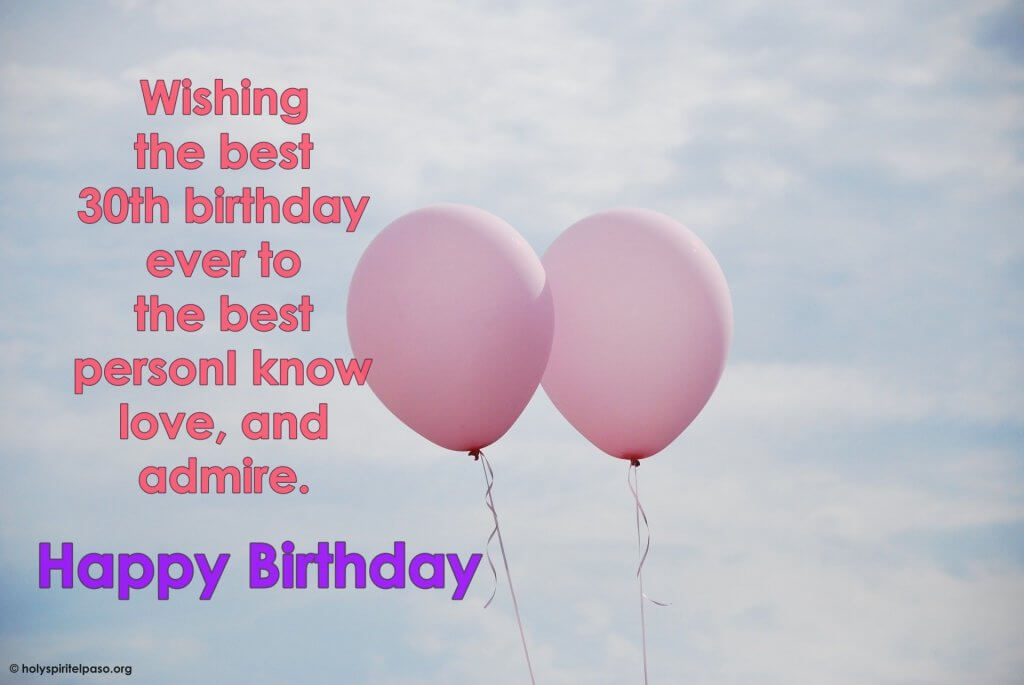 30th Birthday Quotes For Her With Beautiful Pink Balloon Wallpaper