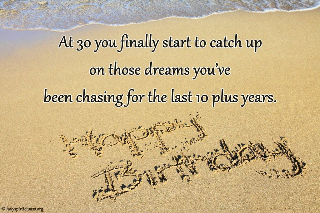 30th Birthday Quotes With Full HD Sand Image