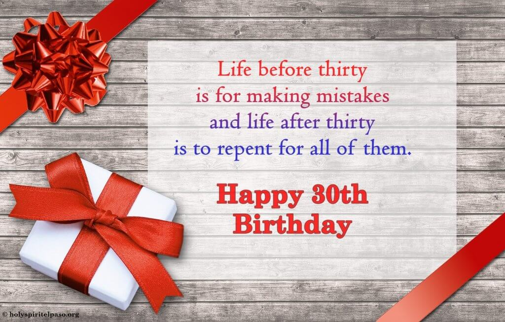 Inspirational 30th Birthday Quotes With Full HD Image