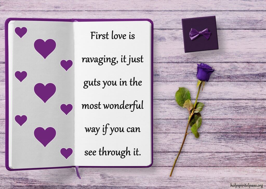 My First Love Quotes With HD wallpaper