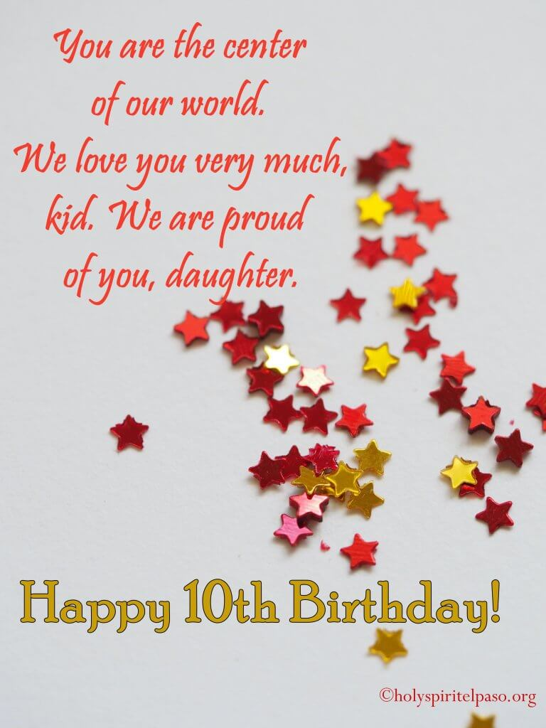 10th Birthday Quotes For Daughter