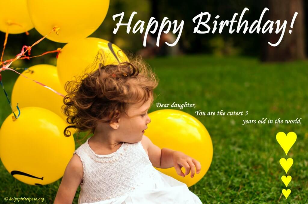 3rd Birthday Quotes For Baby Girl