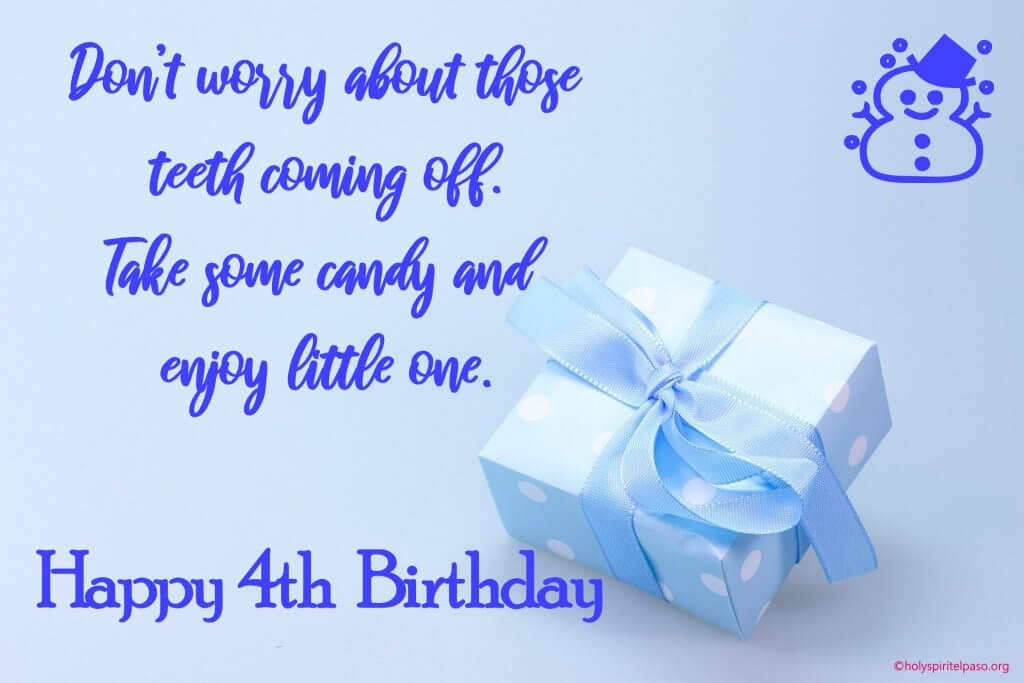 4th Birthday Wishes For Baby Boy