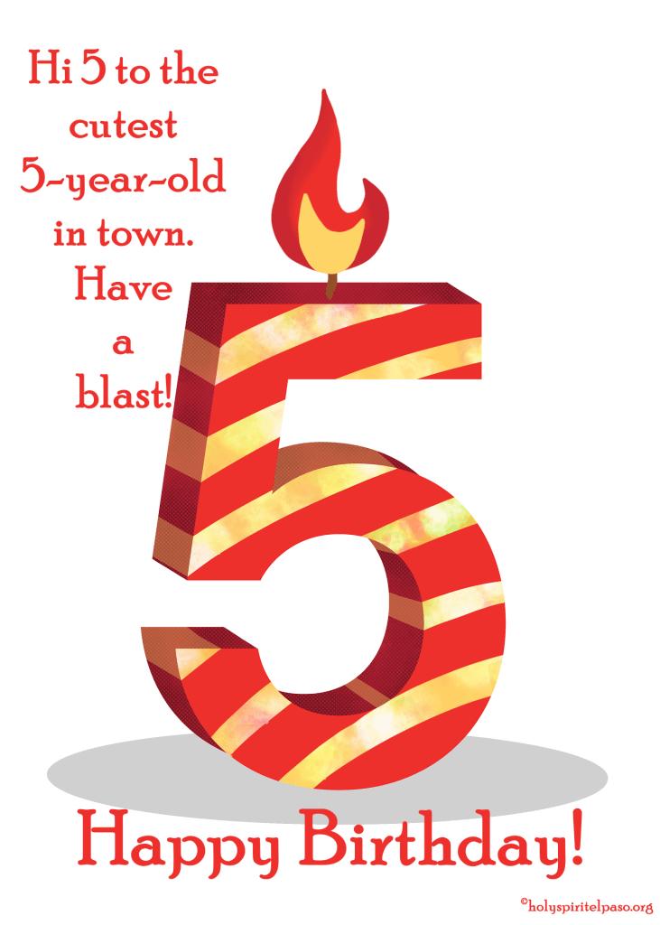 5th Birthday Quotes