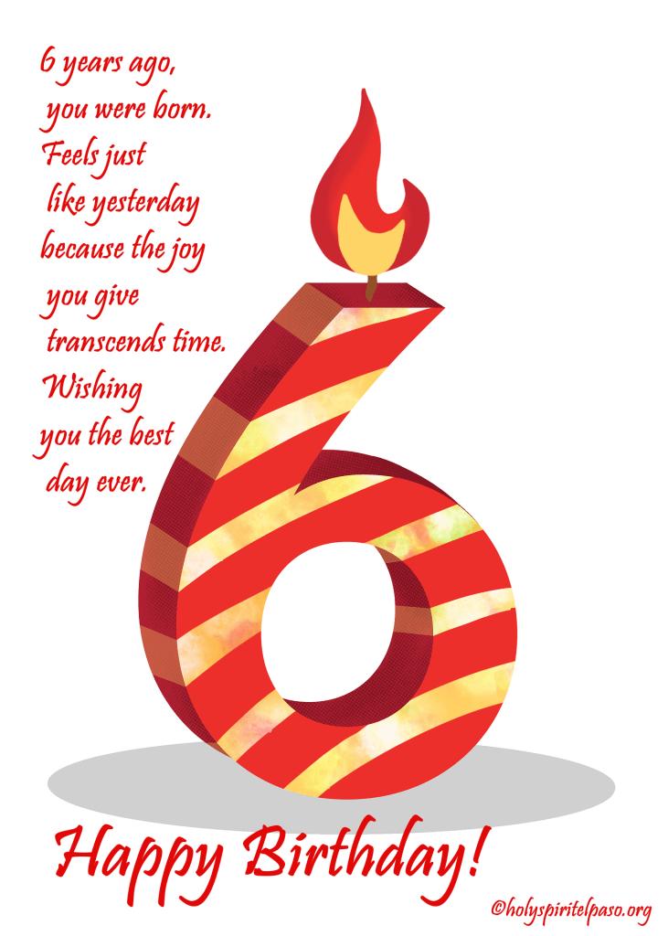 6th Birthday Quotes