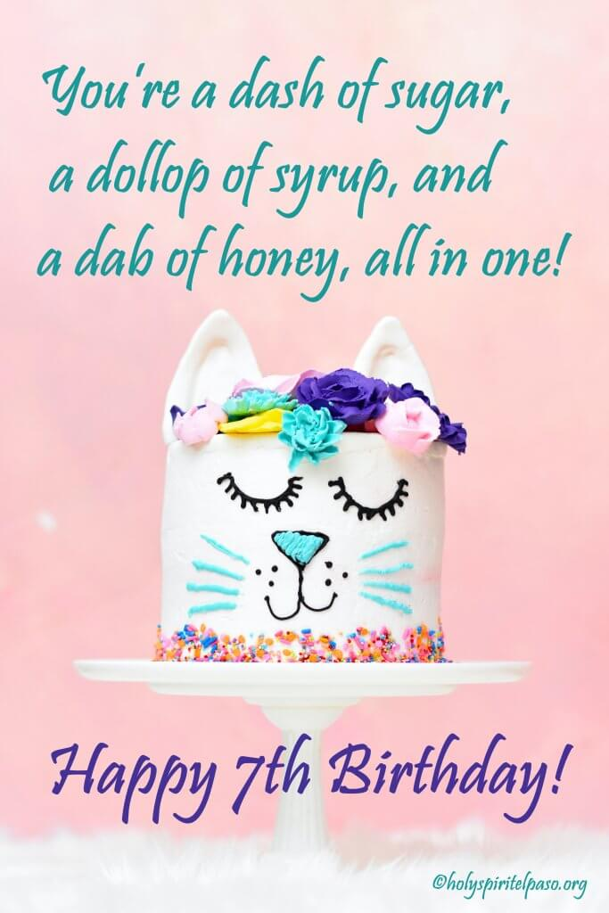 7th Birthday Quotes For Daughter