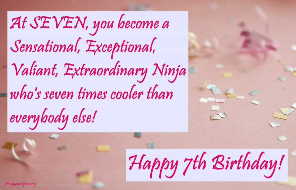 7th Birthday Quotes Sayings