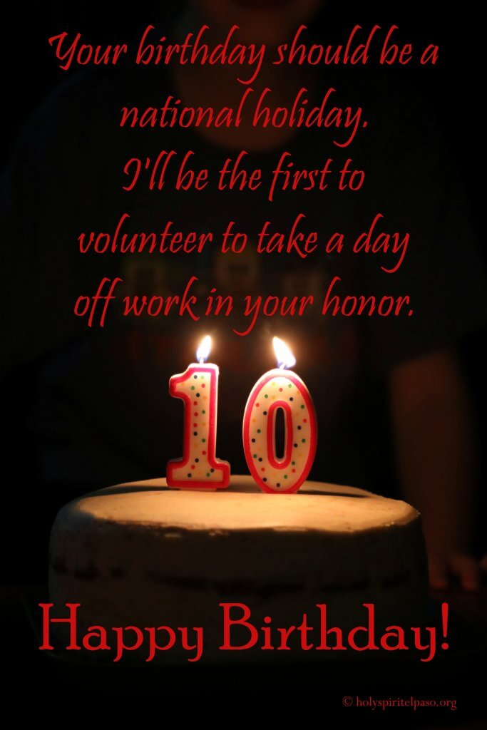 Funny 10th Birthday Quotes