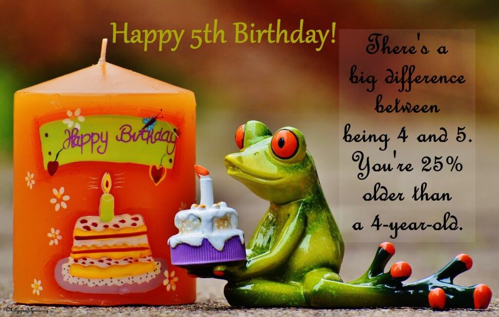 Funny 5th Birthday Quotes