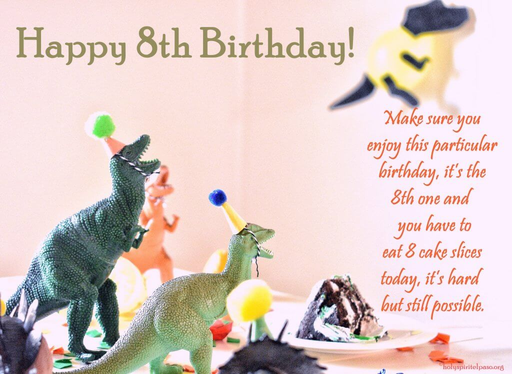 Funny 8th Birthday Quotes