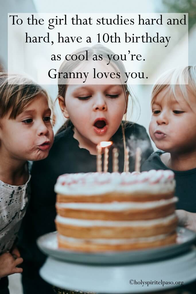 Happy 10th Birthday Granddaughter Quotes