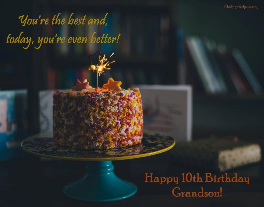 Happy 10th Birthday Grandson Quotes