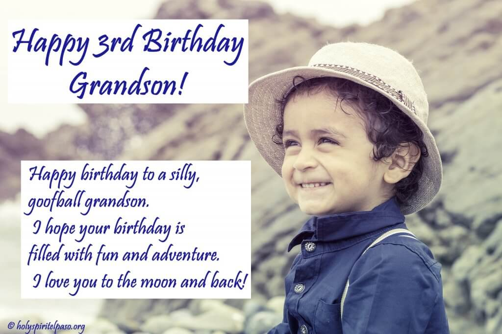Happy 3rd Birthday Grandson Quotes
