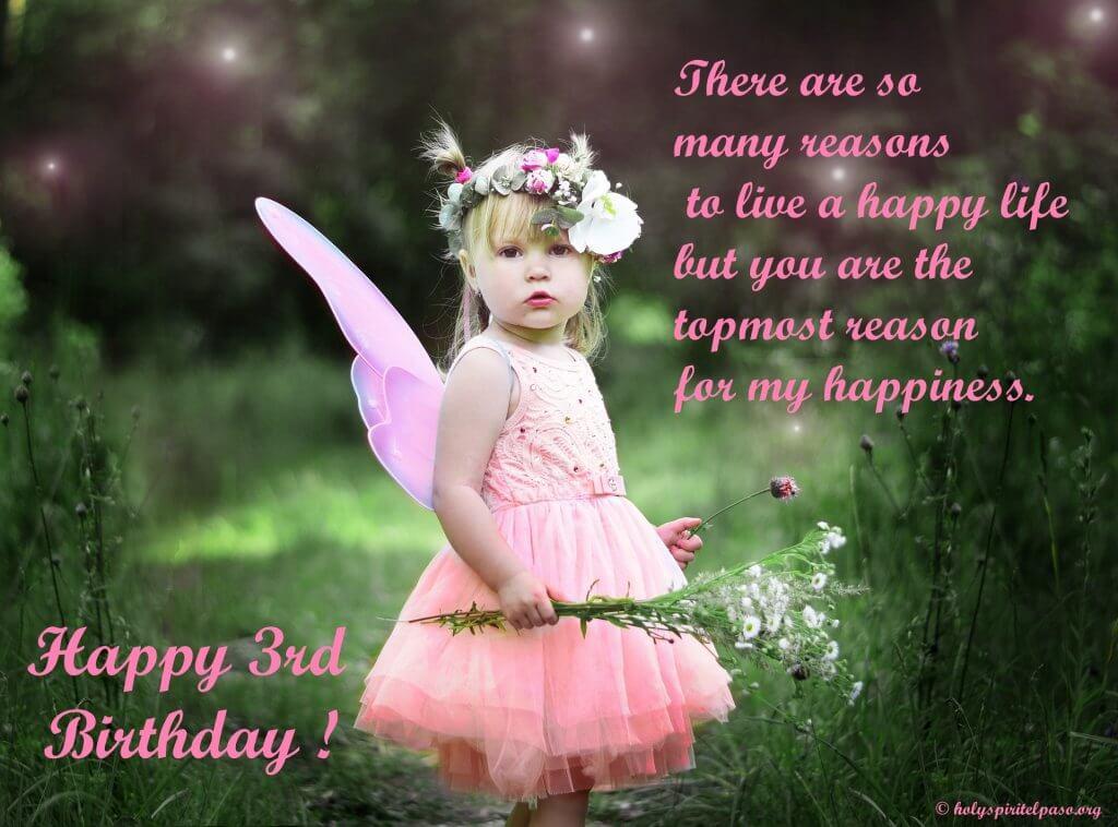 Happy 3rd Birthday Princess Quotes
