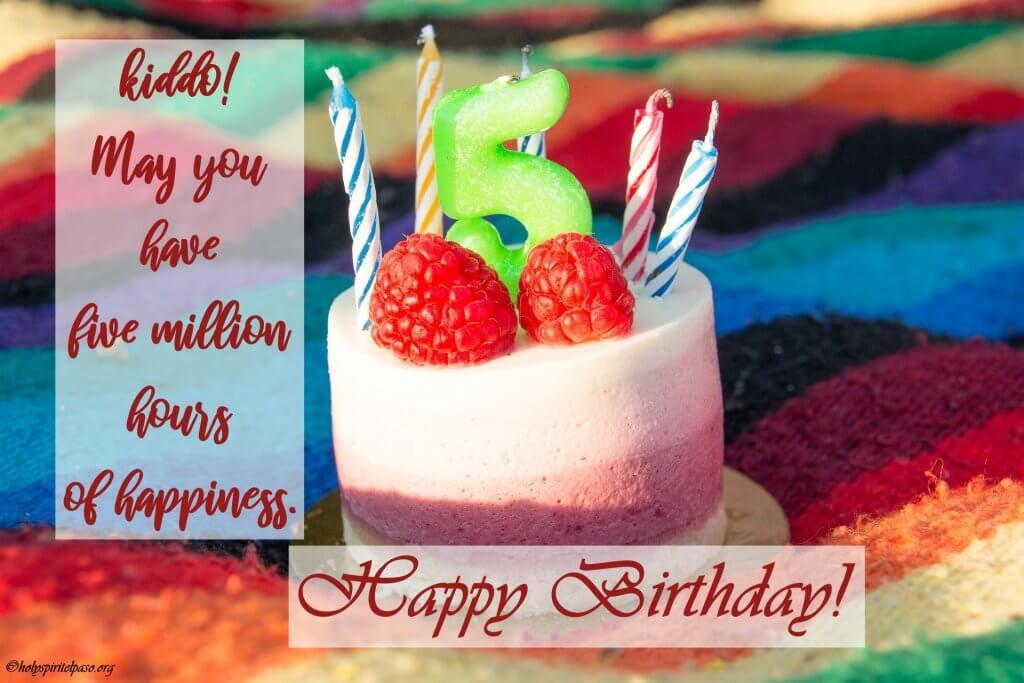 Happy 5th Birthday Boy Quotes