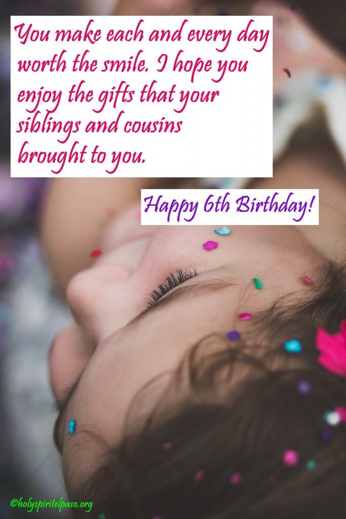 Happy 6th Birthday Granddaughter Quotes