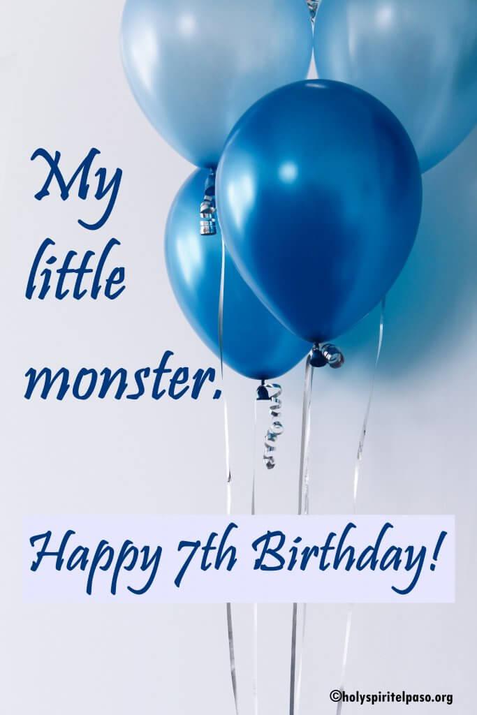 Happy 7th Birthday Boy Quotes