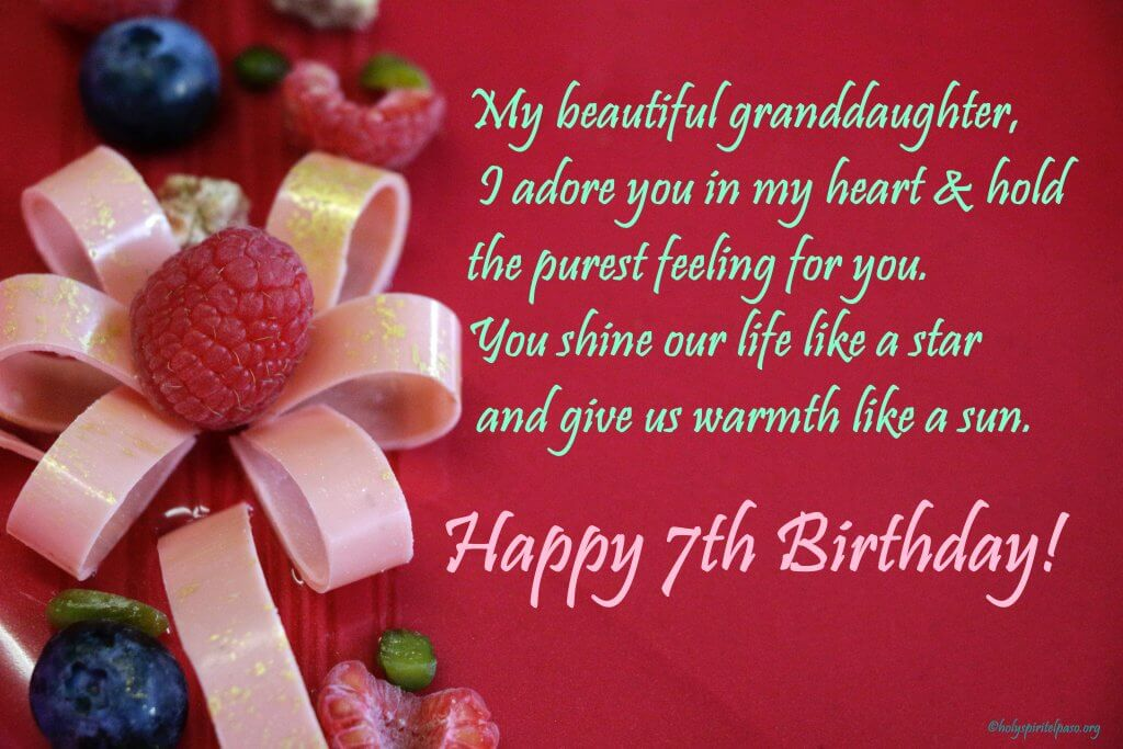 Happy 7th Birthday Granddaughter Quotes