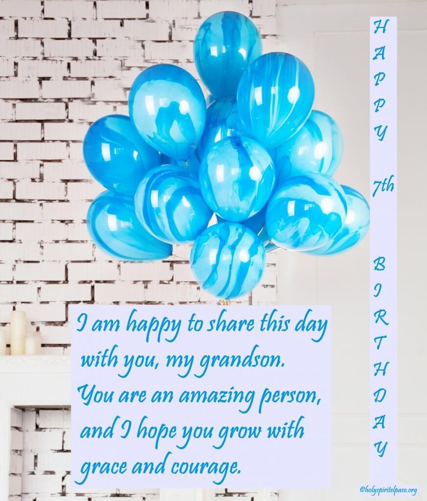 Happy 7th Birthday Grandson Quotes
