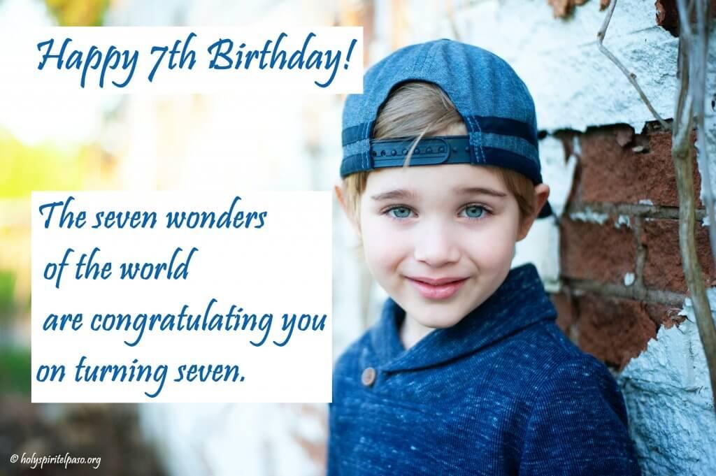Happy 7th Birthday My Son Quotes