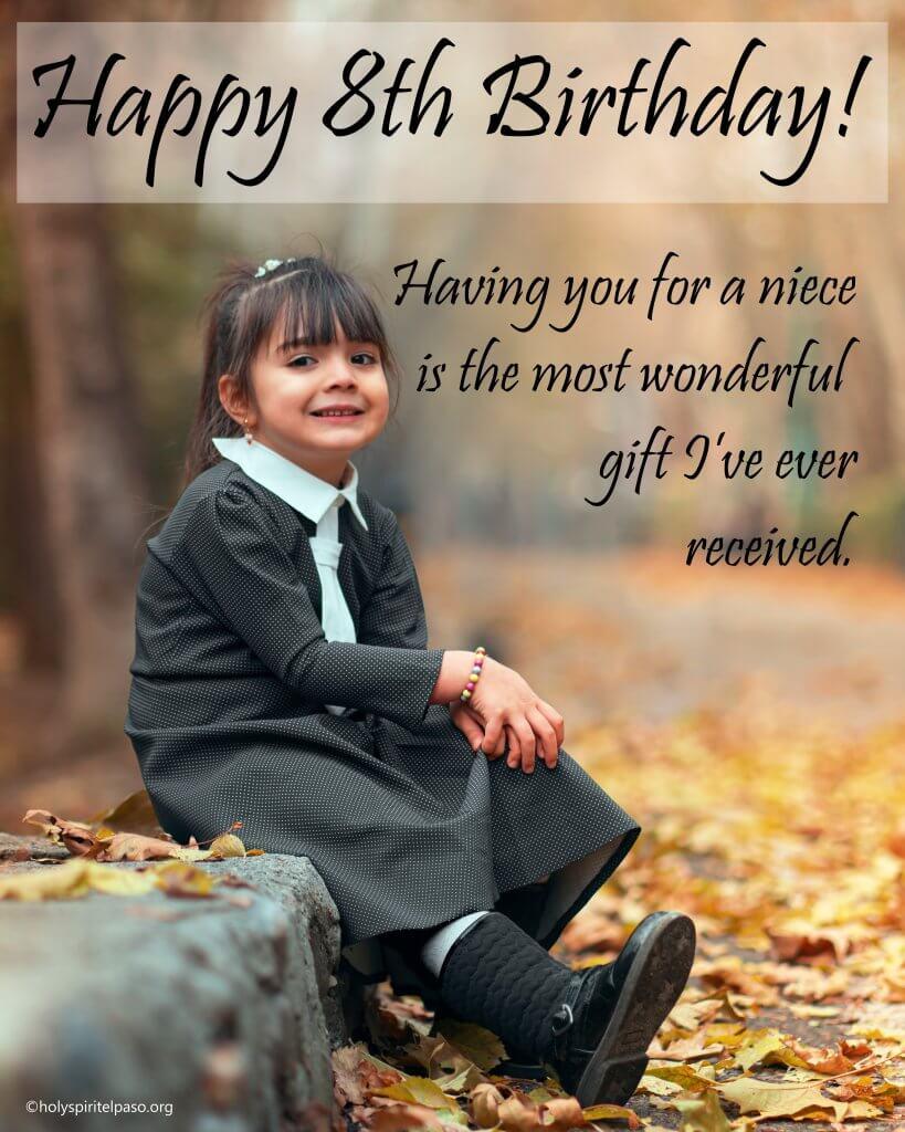 Happy 8th Birthday Niece Quotes
