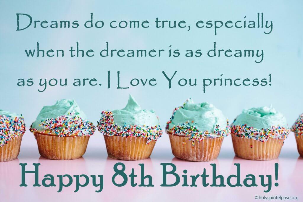 Happy 8th Birthday Princess Quotes