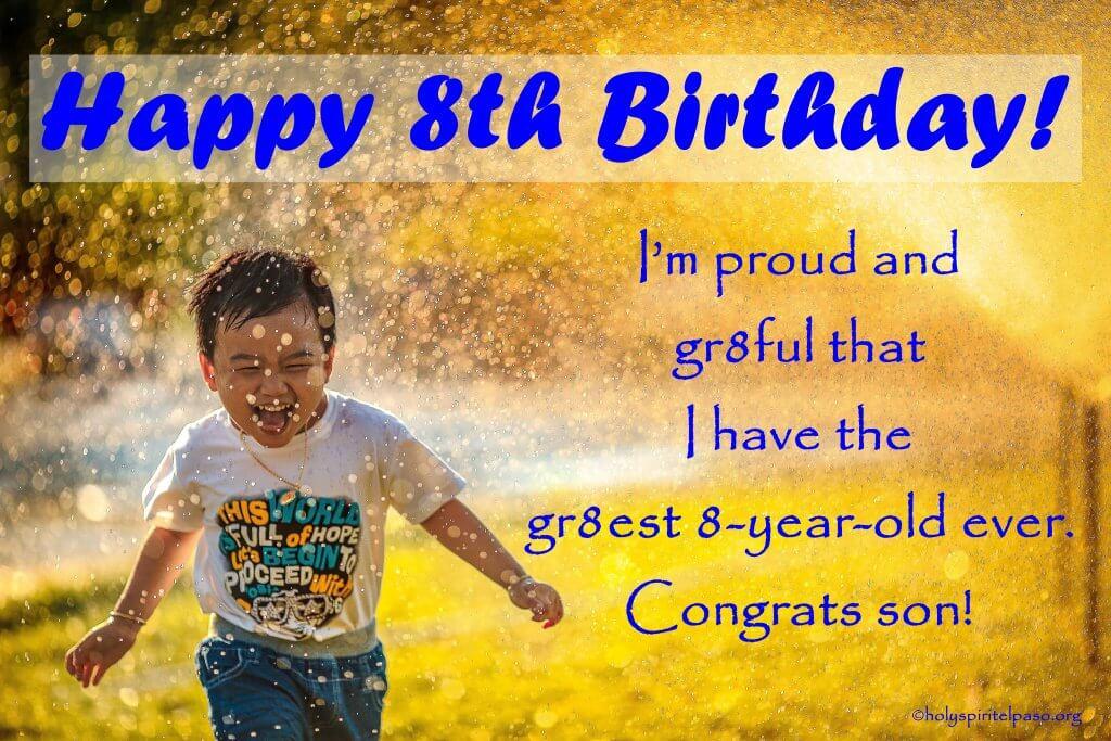 Happy 8th Birthday Son Quotes