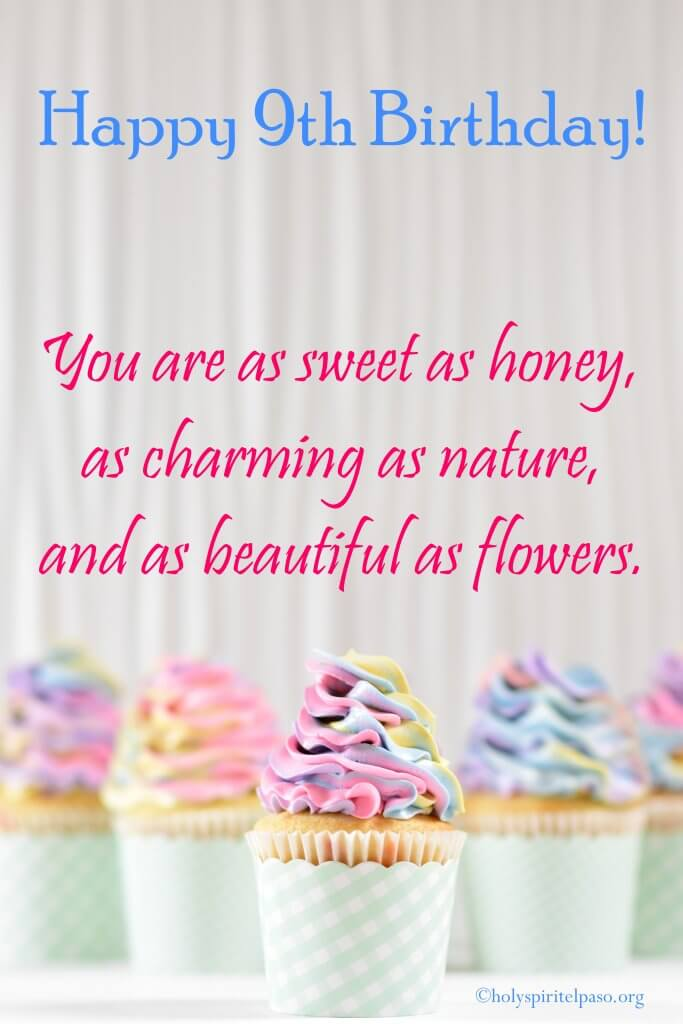 Happy 9th Birthday Girl Quotes