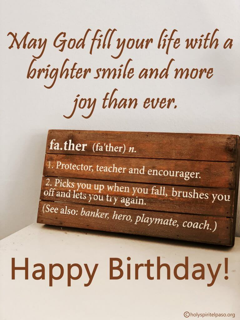 Inspirational Birthday Messages For Father