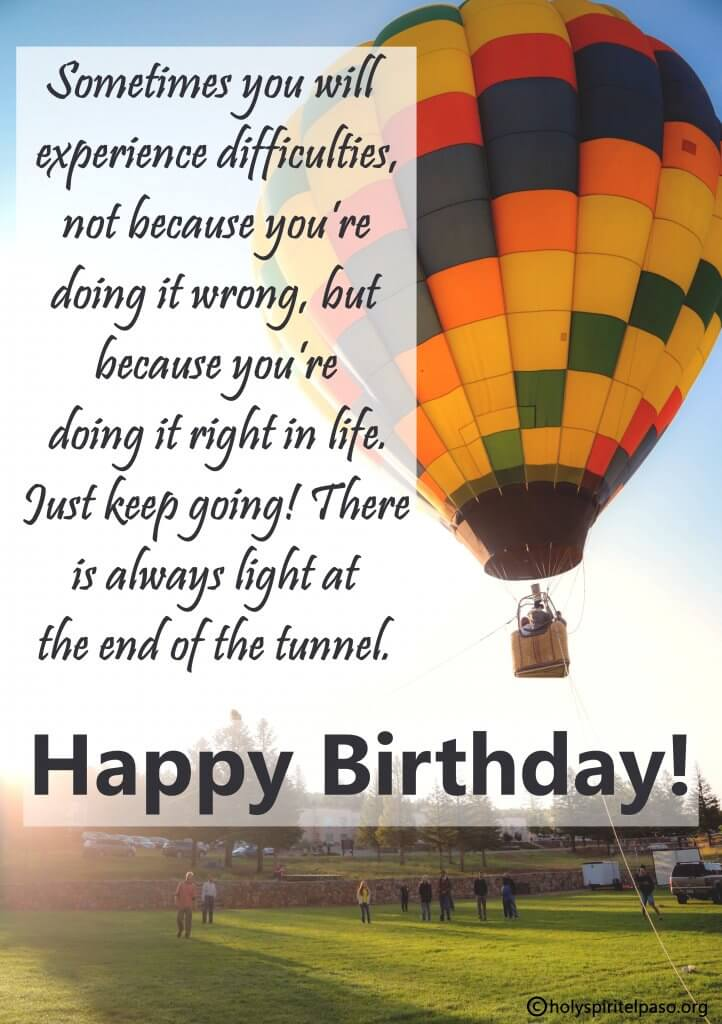 Inspirational Birthday Wordings During A Difficult Time