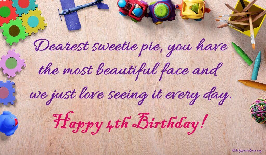 happy 4th birthday baby girl quotes