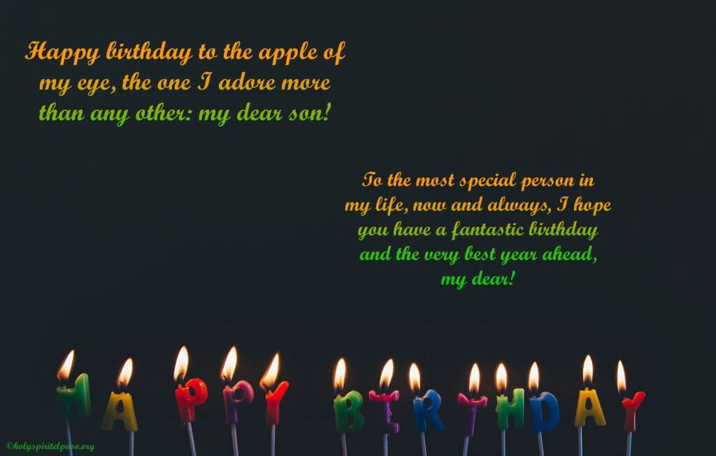 happy birthday message for son
