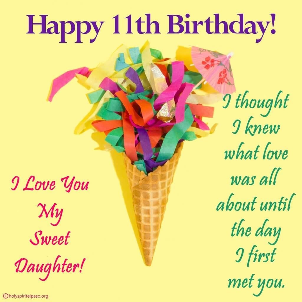 Daughter 11th Birthday Quotes