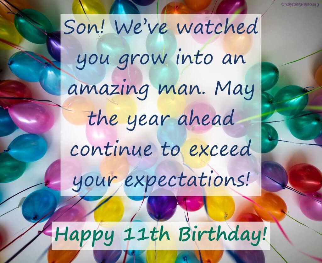 Happy 11th Birthday Boy Quotes