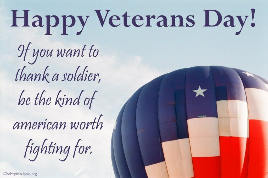 Inspirational veterans day quotes with image