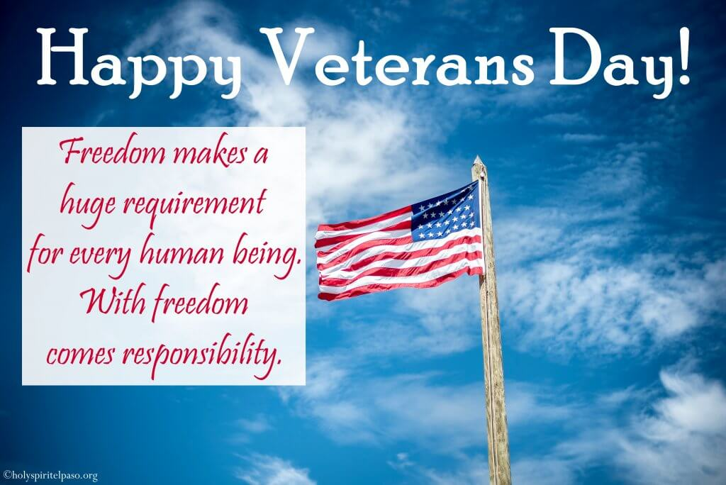 Veterans day Wishing Image With Flag Wallpaper